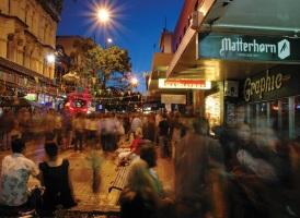 Work and holiday visa nueva Zelanda Cuba Street Wellington