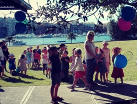 Kids party in the park_interior