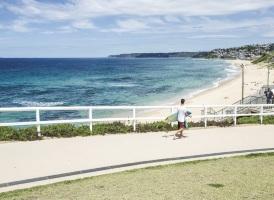Newcastle Beach_Surfer